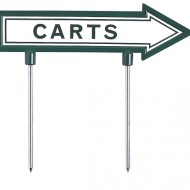 green-line-cart-sign-white